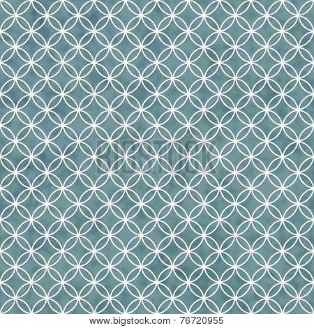 Blue And White Interlocking Circles Tiles Pattern Repeat Background