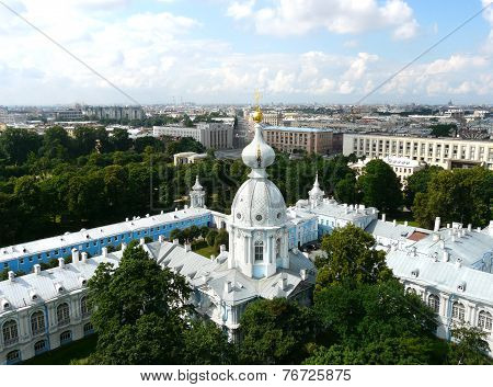 Saint Petersburg from height of the Smolny Cathedral