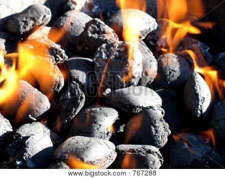 En el fuego del carbón