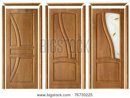 Collage Of Three Doors