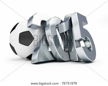 2015 Football On A White Background