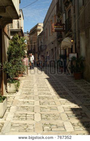 Stone Paved Street Erice
