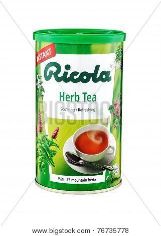 Can Of Ricola Herb Tea