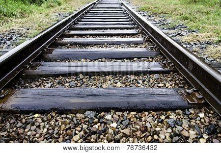 Railroad after rain