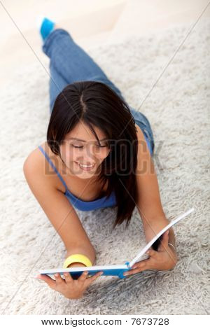 Student Lying On The Floor