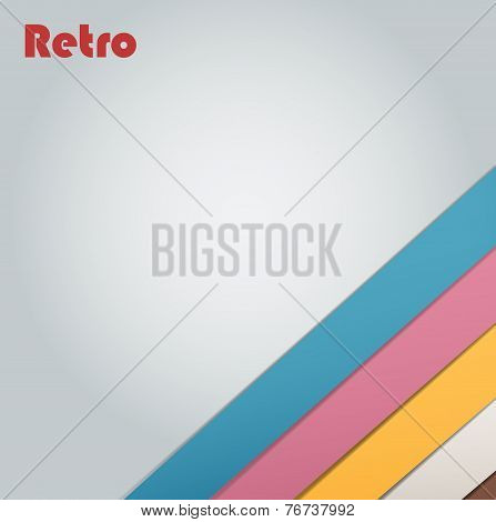 Abstract retro stripe background
