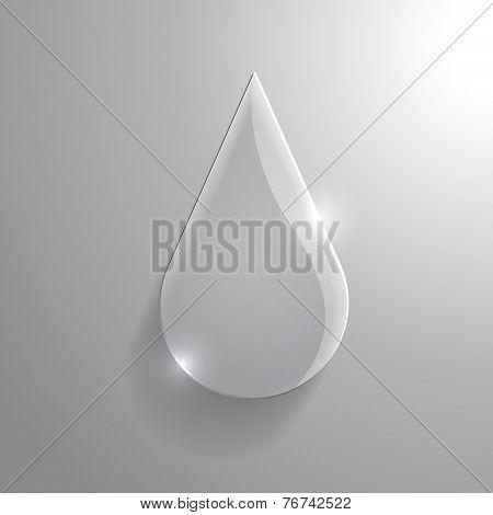 Vector Glass Drop Icon. Eps10