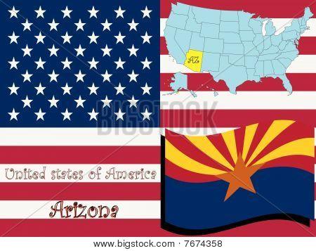 Ilustración del estado de Arizona