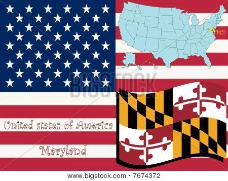 Ilustración del estado de Maryland