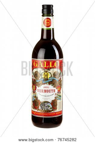 Hayward, CA - November 23, 2014: 750mL bottle of Gallo brand Sweet Vermouth