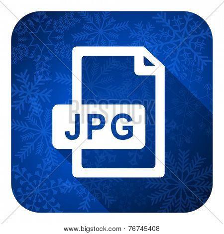 jpg file flat icon, christmas button