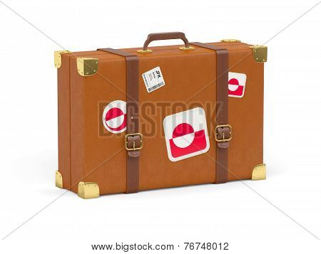 Suitcase With Flag Of Greenland