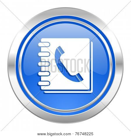 phonebook icon, blue button