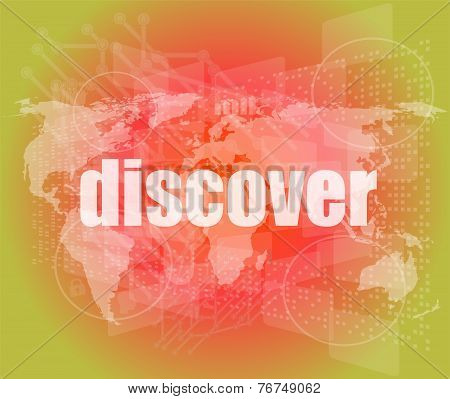 Social Concept: Word Discover On Digital Background