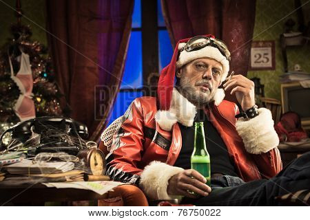 Bad Santa Having A Bad Christmas