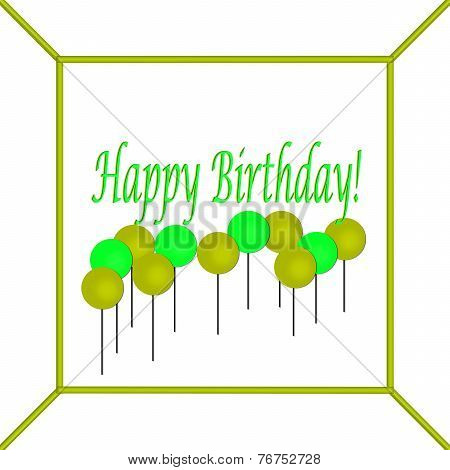 Lime and Pea Green Happy Birthday