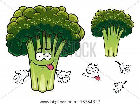 Cartoon broccoli character