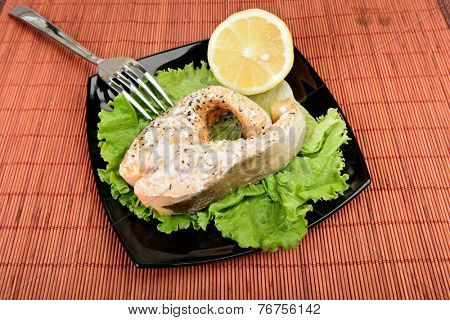 Salmon Steak ready to eat