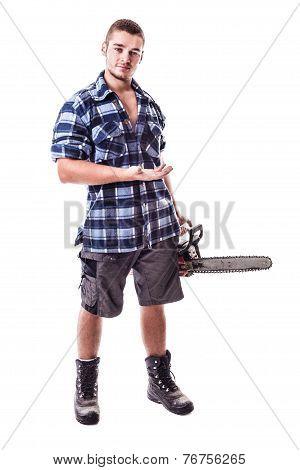 Lumberjack Showing Something