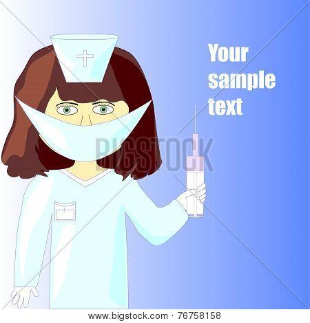 Illustration Of A Nurse
