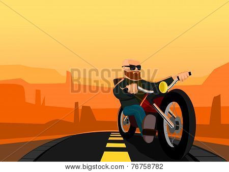 Biker in the Desert