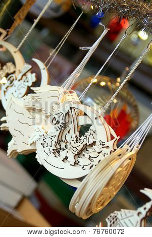 Christmas Decorations Handcrafted Wooden