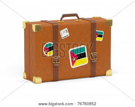 Suitcase With Flag Of Mozambique