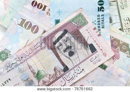Modern Saudi Arabia Money, Banknotes Background