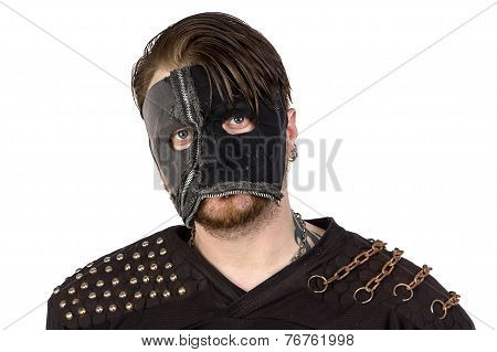 Image of the angry man in mask