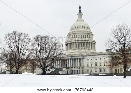 United States Capitol Building in Winter - Washington DC, United States