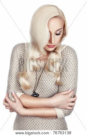 Woman With Wavy Hair.