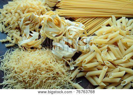 Mix of italian pasta