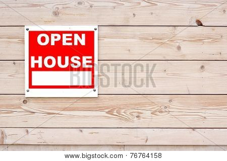 Open House Red and White Signboard