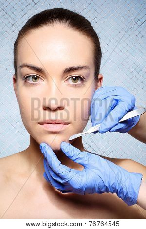 Exfoliating the skin with a scalpel