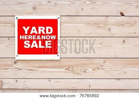 Yard Sale  Here & Now Sign