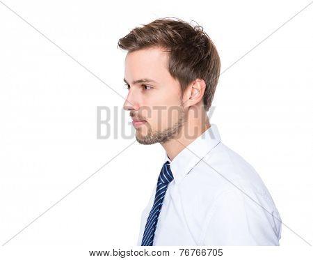Side profile of businessman