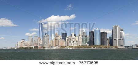 The New York City Downtown W The Freedom Tower 2014