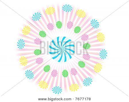 Gooey Swirl Circle Lollipop Vector