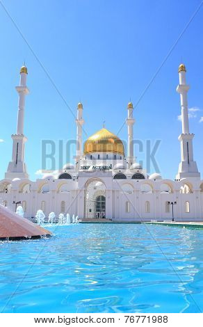 Mosque Nur Astana. Astana, The Capital Of The Republic Of Kazakhstan