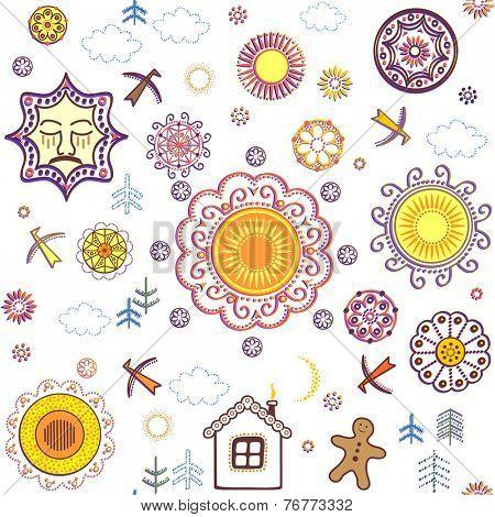 Shrovetide wallpaper. Raster copy