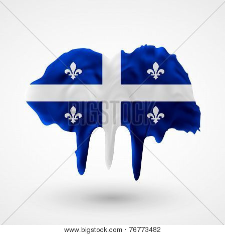 Quebec flag painted colors
