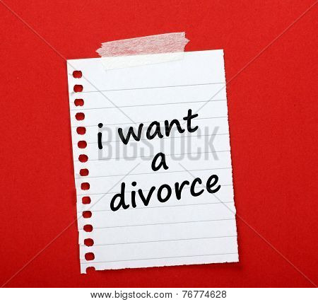 Divorce Note