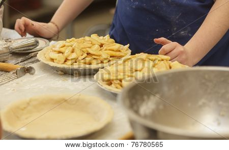 Preparing And Making Apple Pies