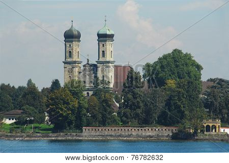 Twin-tower church in Langenargen at Lake Constance