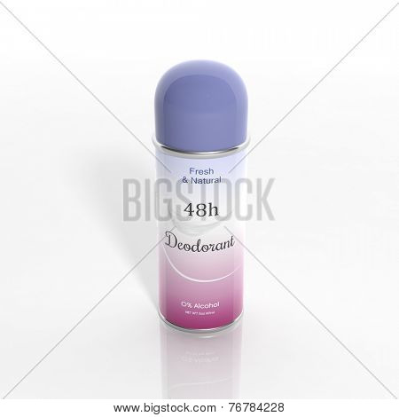 3D Deodorant can isolated on white background