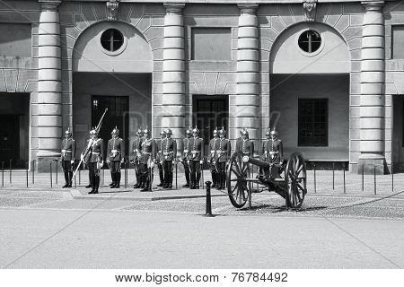 Royal Guard In Stockholm