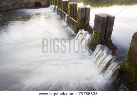 Small Dam In Small Village