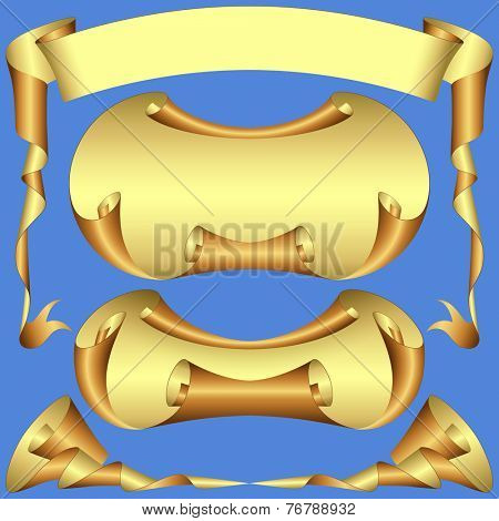 A Set of Scroll Banner Elements - Vector EPS 10