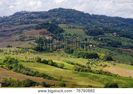 Town Voltera, Tuscany, Italy.