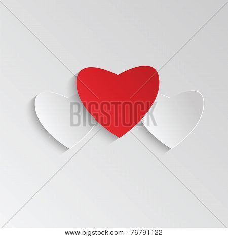 Background With Hearts For Valentine's Day